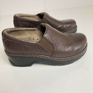 Klogs Leather Clogs Brown 6m Womens